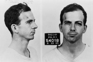 Dallas, Texas, USA --- The Dallas Police Department mug shots of Lee Harvey Oswald following his arrest for possible involvement in the John F. Kennedy assassination and the murder of Officer J.D. Tippit. --- Image by © CORBIS