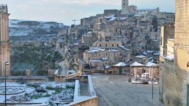 Photo of Maltempo: neve al centrosud, Sassi di Matera imbiancati